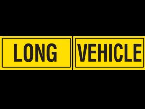 Long Vehicle Metal Sign