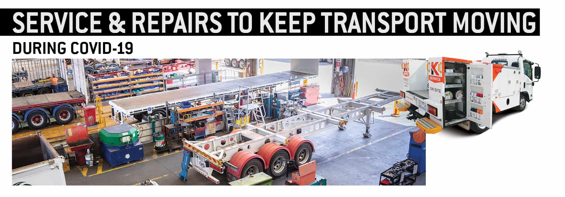 Krueger transport semi trailer service