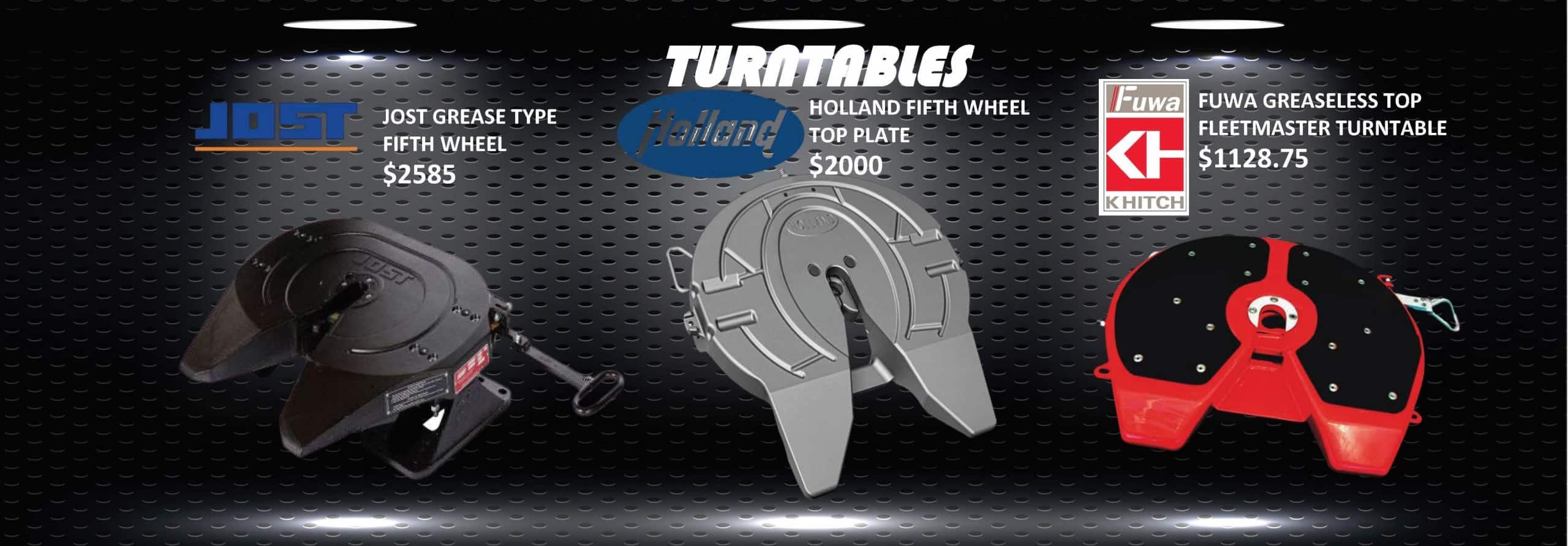 Turntables for semi trailer